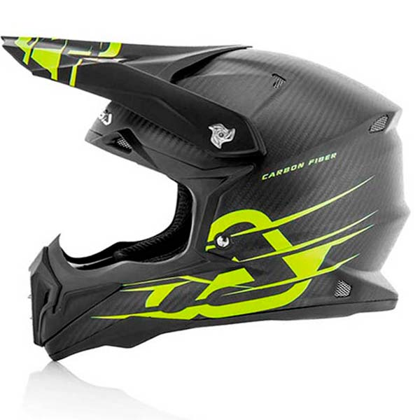casco enduro fibra carbono